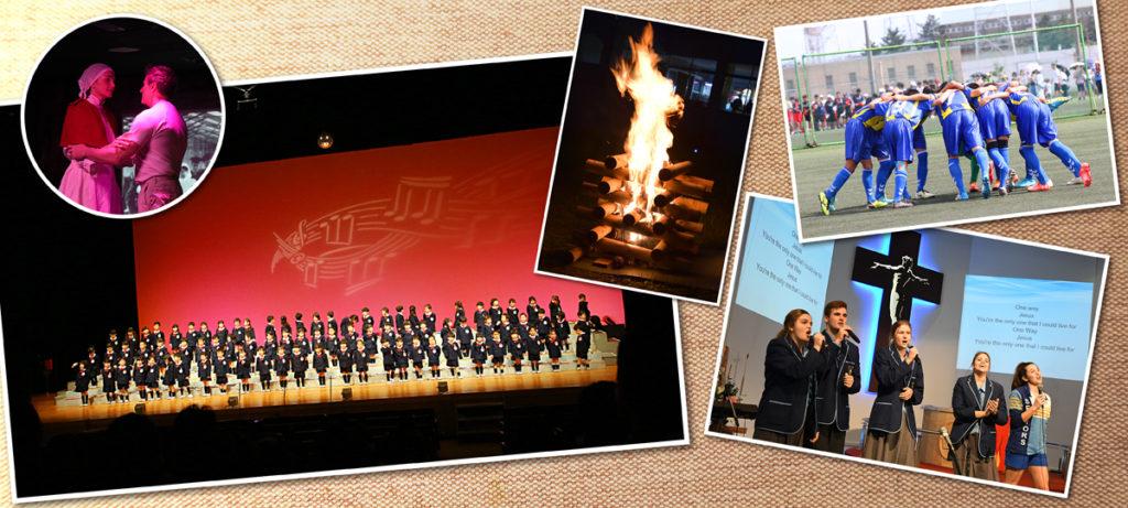 イベント撮影の背景画像